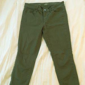 Olive Green  Modern Skinny Ankle Pants